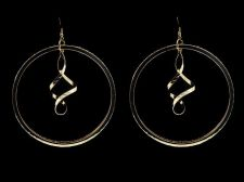 Buy Extra Large Gold Plate Swirling Hoop Earrings