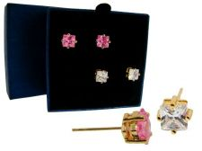 Buy Solitaire Princess Cut Stud Earring Set