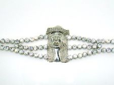 Buy Sterling Silver overlay Jesus bracelet