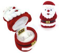 Buy Cubic Zirconia Studs Earrings in Santa Gift Box