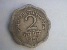 Buy 1957 - india - 2 paisa circulated coin
