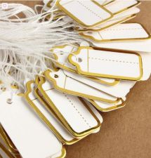 Buy 500pcs yellow label gift tags