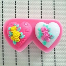 Buy fashion heart silicon mould