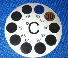 Buy Aquarium Thermometer Temperature Fish Tank Round Adhesive Sticker
