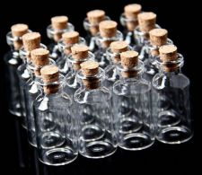 Buy 50Pcs 18x40mm Mini Clear Glass Bottles
