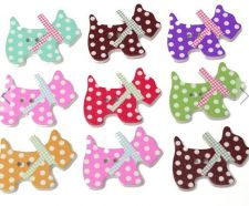 Buy 50pcs dog style wooden buttons