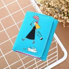 Buy New lady's short wallet blue