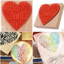 Buy 1pc wooden stamp