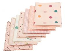 Buy 7 Pieces 4 sizes colorful dot fabric