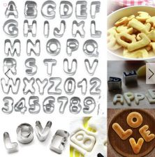 Buy 37pcs Alphabet letter and number cookie cutter