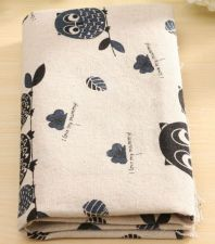 Buy 1 piece owl Cotton Linen Cloth