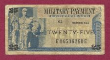 Buy US 25 Cent Series 692 Military Payment Certificate E06536260E 1970-73