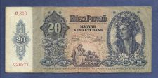 Buy Hungary 20 Pengo 1941 P109 Banknote #026577 -WWII Era Currency