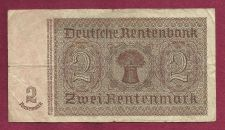 Buy Germany 2 Rentenmark 1937 Banknote #C56172674- WWII Era Nazi Currency!!