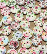 Buy 100pcs 2 holes wooden buttons