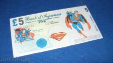Buy 5 pounds SUPERMAN fantasy banknotes/laminated