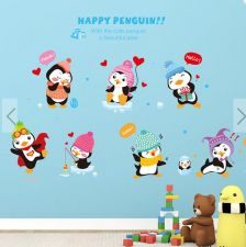 Buy animals penguin children home wall sticker