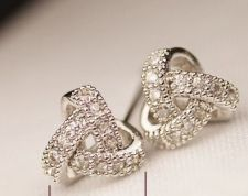 Buy 925 silver plated zircon earring