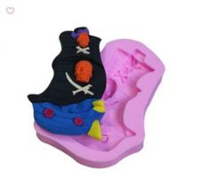 Buy fashion pirate ship food silicone mold