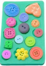 Buy fashion buttons cake silicone mold