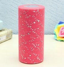 "Buy 6""inch 25 yards tulle 1 roll,sequin pink"