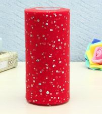 "Buy 6""inch 25 yards tulle 1 roll,sequin red"