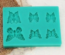 Buy butterfly fashion heart silicon mould