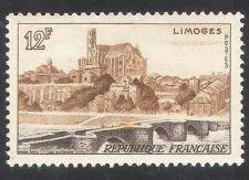 Buy France Landscapes Limoges mnh 1955