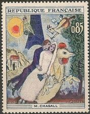 Buy France Paintings Chagall mnh 1963