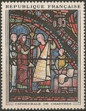 Buy France Paintings La Cathédrale de Chartres mnh 1963
