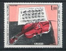 Buy France Painting Dufy Violon Rouge mnh 1965