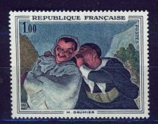 Buy France Painting Daumier mnh 1966