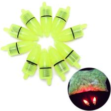 Buy Fishing Rod Tip LED Light Bells Alarm Clip Night Bite Ring Fish