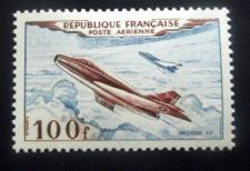 Buy France Airmail 100f mnh 1954