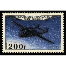 Buy France Airmail 200f mnh 1954