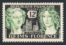 Buy France Reims Florence Friendship mnh 1956