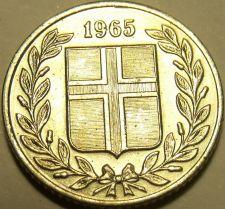 Buy Gem Unc Iceland 1965 25 Aurar~We Have Iceland Coins~Free Shipping