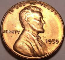 Buy United States 1955-P Unc Lincoln Wheat Cent~Free Shipping