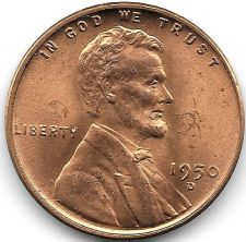 Buy United States 1950-D Unc Lincoln Wheat Cent~Free Shipping