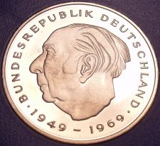 Buy Gem Cameo Proof Germany 1981-F 2 Marks~Theodor Heuss~Only 91,000 Minted~Free Shi