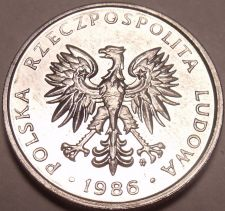 Buy Unc Poland 1986-MW 50 Groszy~Eagle Coin~We Have Unc World Coins~Free Shipping