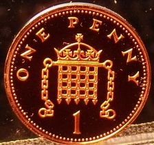 Buy Cameo Proof Great Britain 2004 Penny~Crowned Portcullis With Chains~Free Ship
