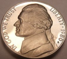 Buy United States Proof 1980-S Jefferson Nickel~Proofs R Best Coins~Free Shipping