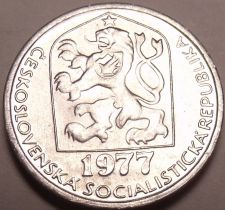 Buy Gem Unc Czechoslovakia 1977 5 Haleru~Czeck lion~Excellent~Free Shipping