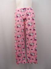 Buy SIZE L Womens Pajama Bottoms HELLO KITTY Micro Fleece Sleepwear Straight Legs