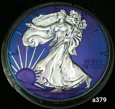 Buy 2016 Rainbow Monster Toned Silver American Eagle Coin 1oz uncirculated #a379