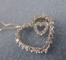 Buy Sterling Heart in Heart Pendant : Silver & Sparkling CZs - NO CHAIN
