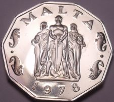 Buy Rare Massive Cameo Proof Malta 1978 50 Cents~Great Siege~3,244 Minted~Free Ship