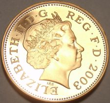 Buy Cameo Proof Great Britain 2003 Penny~Badge Of Henry VII~Proofs Are Best~Free Shi