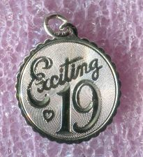 Buy vintage Birthday Charm : Exciting 19 - Sterling 925 Silver